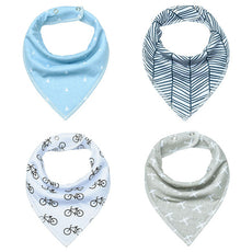 Windy Skies Bandana Bib Set (4 Piece Set)