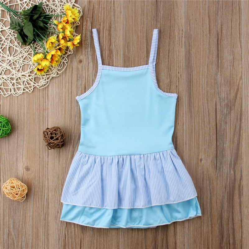 Blue Lake Swan Swimsuit - Swimsuits - baby-petite