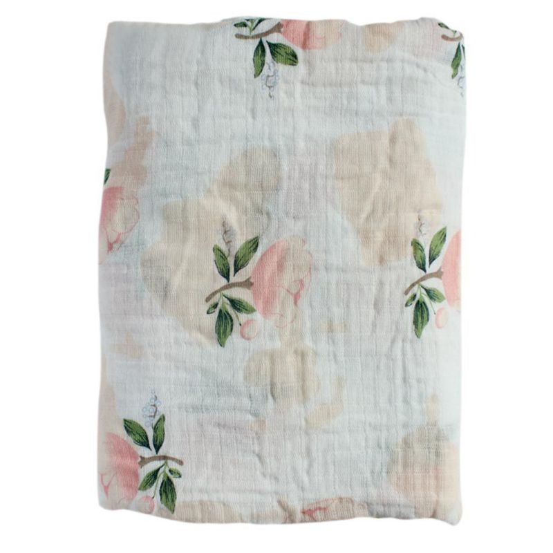 Graceful Rose Swaddle Blanket - Swaddle Blankets - baby-petite