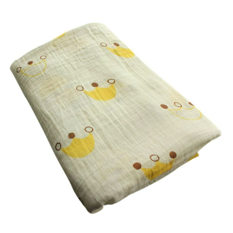 Yellow Crown Swaddle Blanket - Swaddle Blankets - baby-petite