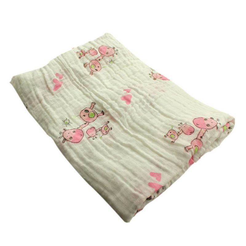 Pink Giraffe Swaddle Blanket - Swaddle Blankets - baby-petite