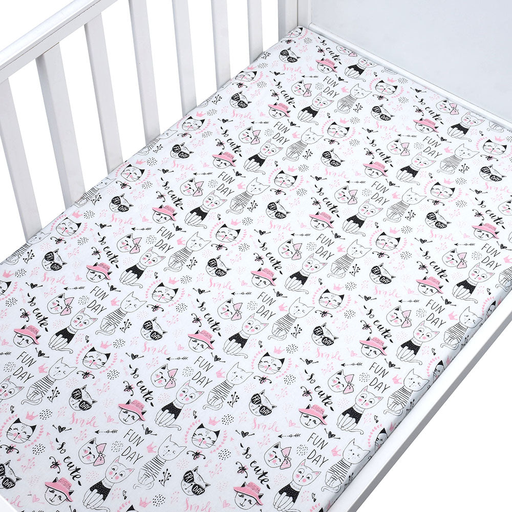 Cat Fun Day Baby Bed Sheet - Bed Sheets - baby-petite