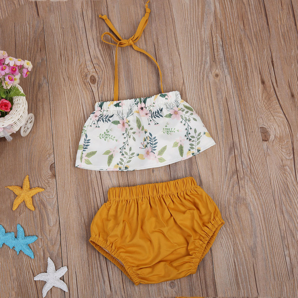 Gentle Garden Brown Lace Top and Shorts - Clothing Sets - baby-petite