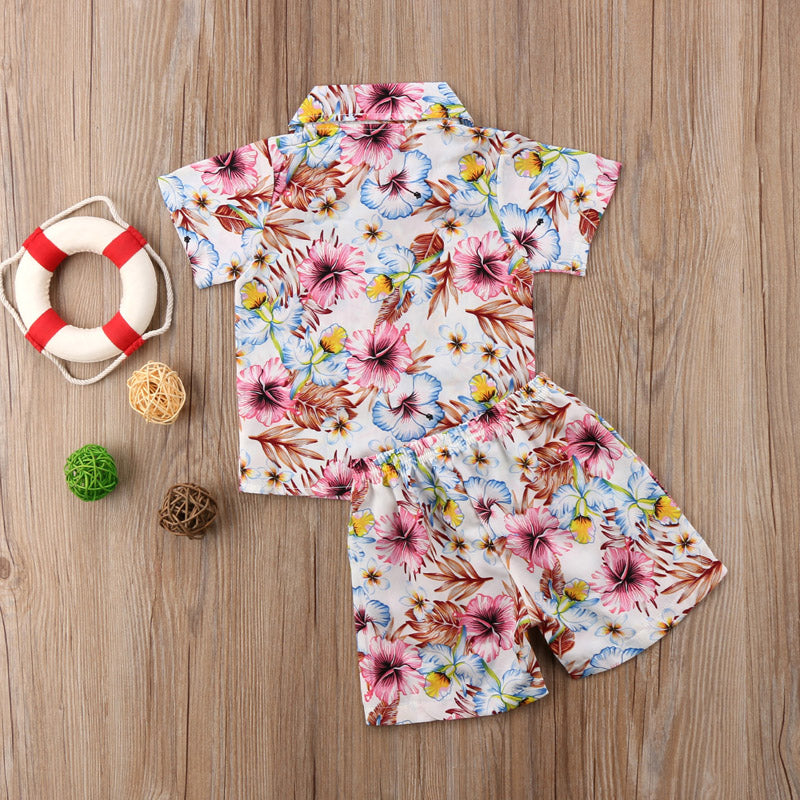 Hawaiian Vibes Shirt and Short Pants Set - Clothing Sets - baby-petite