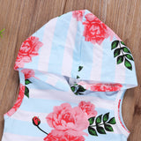 Summer Beach Floral Sleeveless Hoodie and Short Pants Set - Clothing Sets - baby-petite