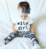 Wild Girl Bear Zebra T-Shirt and Long Pants Set - Clothing Sets - baby-petite