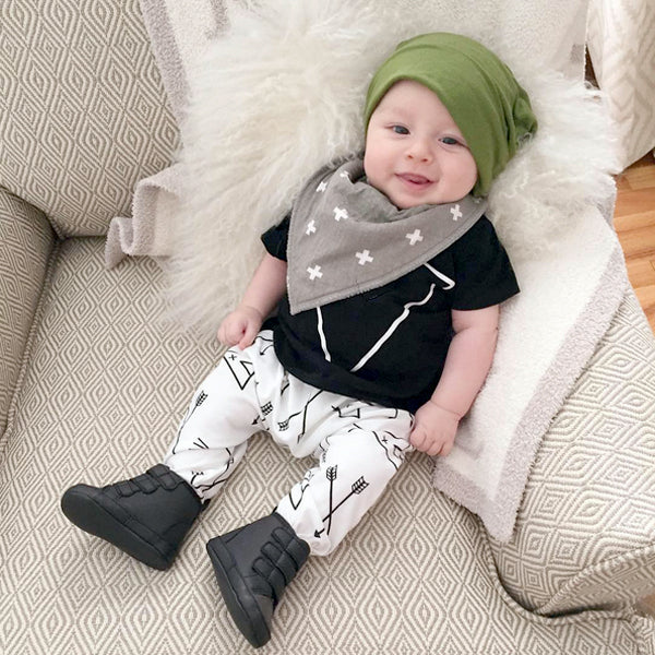 Geometrical Shapes T-Shirt and Long Pants Set - Clothing Sets - baby-petite