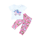 Unicorn Pony Wonderland T-Shirt and Long Pants Set - Clothing Sets - baby-petite