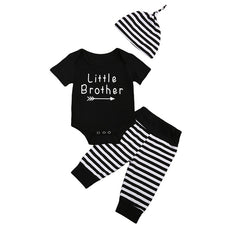 Little Brother Striped Clothing Set (3 Piece Set)