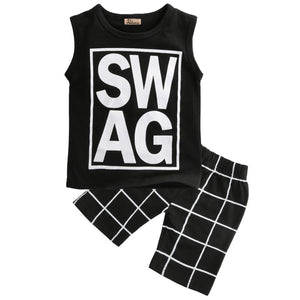 Swag Sleeveless T-Shirt and Short Pants Set - Baby Petite - Clothing Sets