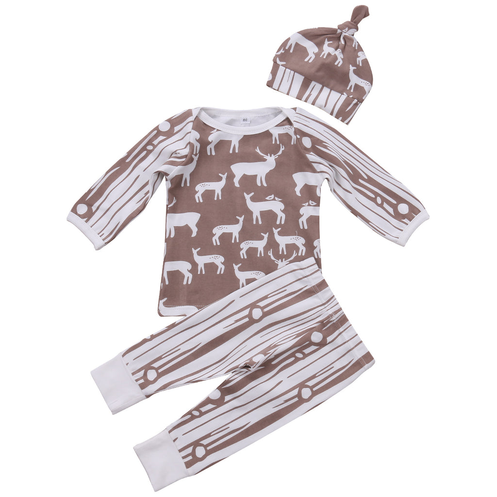 Deer In the Woods Clothing Set (3 Piece Set) - Clothing Sets - baby-petite