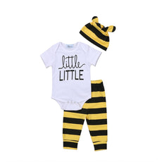 Little Little Bee Striped Clothing Set (3 Piece Set)