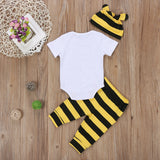 Little Little Bee Striped Clothing Set (3 Piece Set) - Clothing Sets - baby-petite