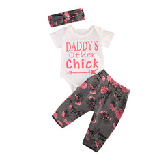 Daddy's Other Chick Floral Clothing Set (3 Piece Set)