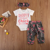 Daddy's Other Chick Floral Clothing Set (3 Piece Set) - Clothing Sets - baby-petite