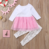 Rosy Ruffle Bear T-Shirt and Long Pants Set - Clothing Sets - baby-petite