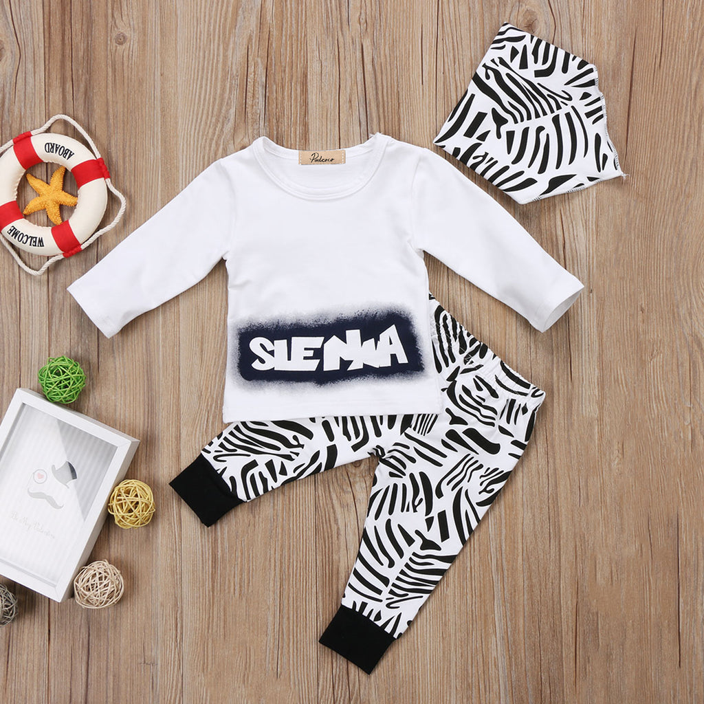 Zebra Party Clothing Set (3 Piece Set) - Clothing Sets - baby-petite
