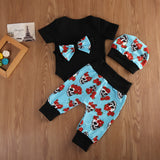 Calavera Floral Sugar Skull Clothing Set (4 Piece Set) - Clothing Sets - baby-petite