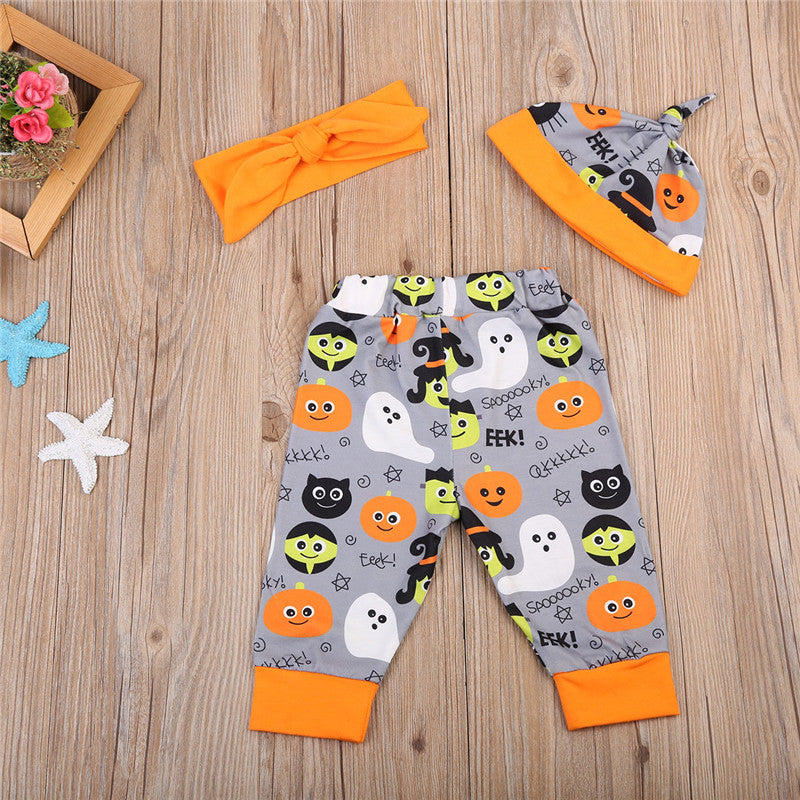 Boo! Halloween Clothing Set (4 Piece Set) - Clothing Sets - baby-petite