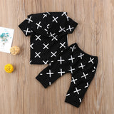 Cross Roads Hoodie and Long Pants Set - Clothing Sets - baby-petite