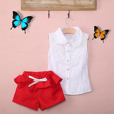 Fancy Summer Lace Shirt and Short Pants Set - Clothing Sets - baby-petite