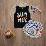 Summer Daisy Clothing Set (3 Piece Set) - Clothing Sets - baby-petite