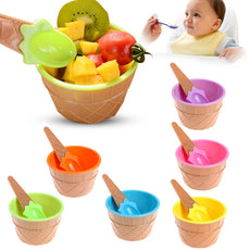 Ice Cream Baby Dessert Bowl and Spoon