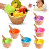 Ice Cream Baby Dessert Bowl and Spoon - Tableware - baby-petite
