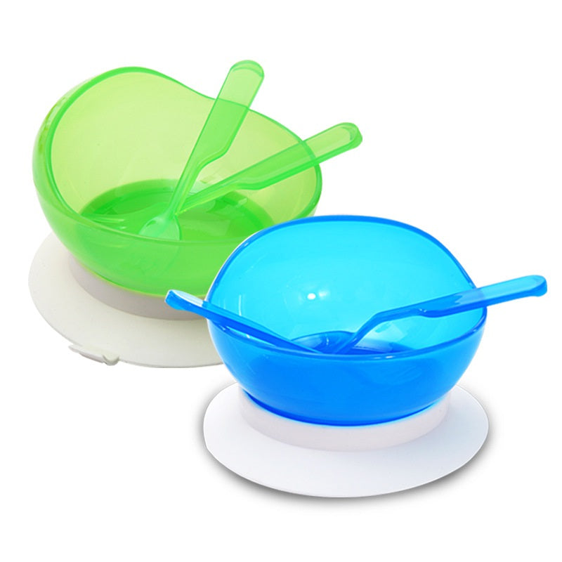Clear BPA Free Suction Cup Bowl and Cutlery Set - Tableware - baby-petite