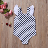 Estelle Striped Ruffle Swimsuits - Swimsuits - baby-petite