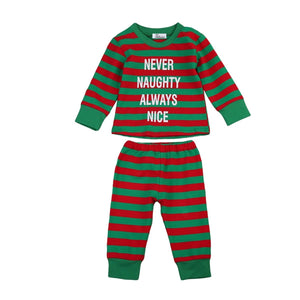 Never Naughty Always Nice Two Piece Pajamas