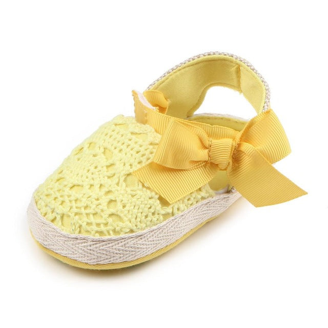 Crochet Knitted Sweet Bow Slip On Shoes