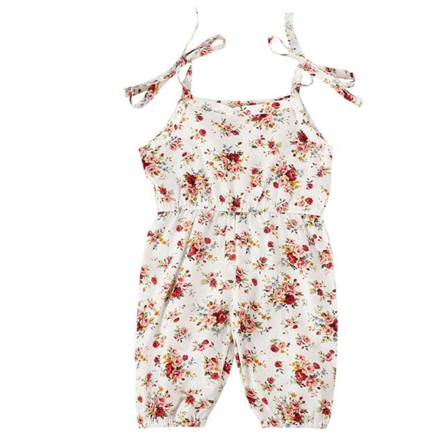 Dreamin' Floral Strappy Jumpsuit - Rompers - baby-petite