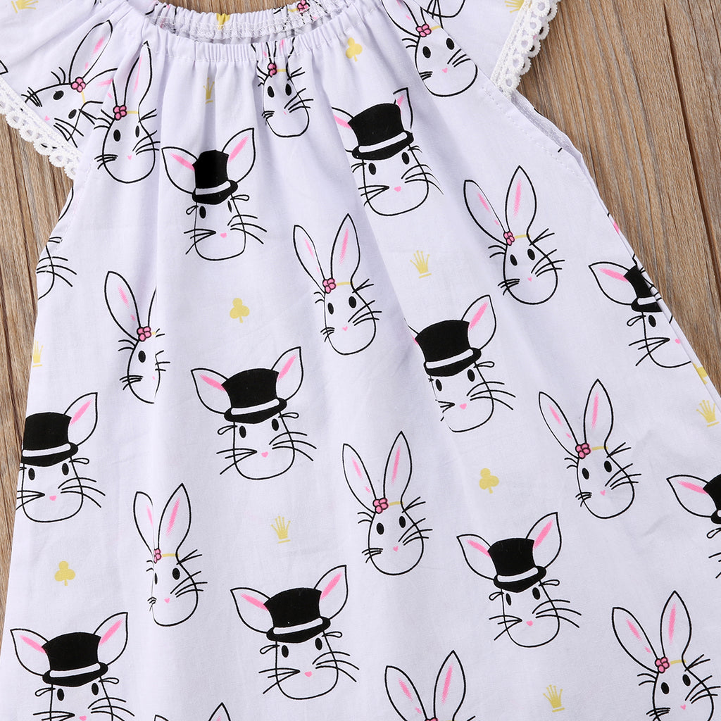 Magic Hat Bunny White Dress - Dresses - baby-petite