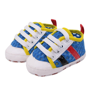 The 80's Retro Mesh Striped Sneakers