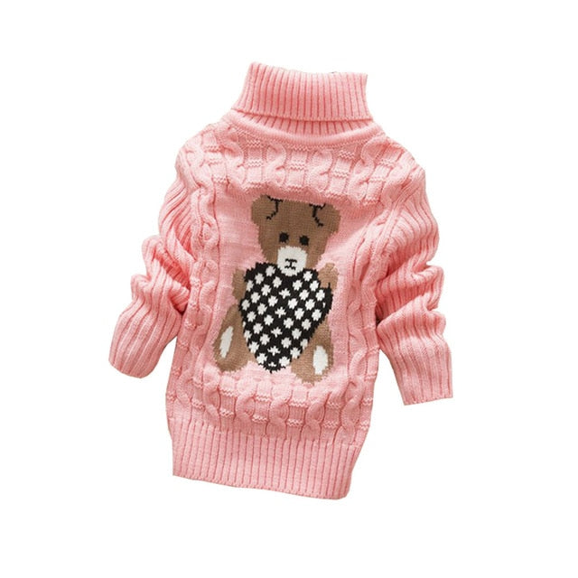 Sweet Beary Turtle Neck Sweater