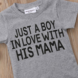 Just A Boy & Girl In Love Cotton T-Shirt - Tops - baby-petite