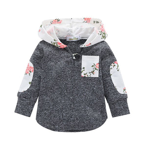 English Garden Hooded With Side Pocket Warm Jumper