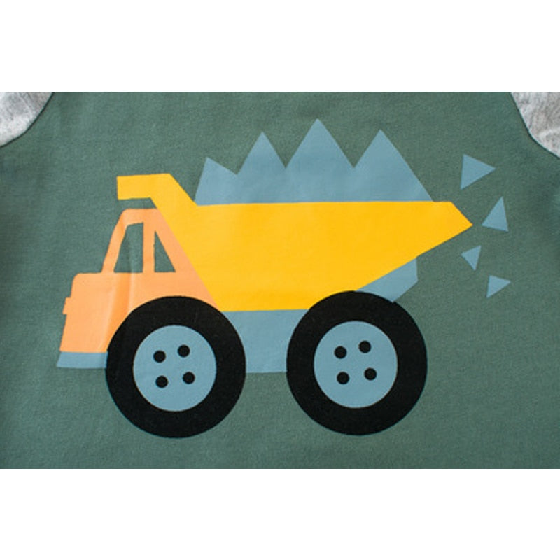 Load N' Truck Long Sleeve Baseball T-Shirt - Tops - baby-petite