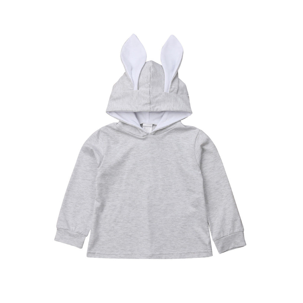 Bunny Ear Hooded Long Sleeve Pullover