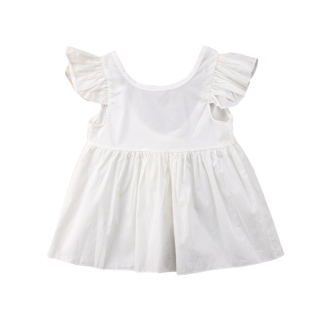 Angelic White Ruffle Summer Dress - Kids Petite - Baby & Kids Clothing