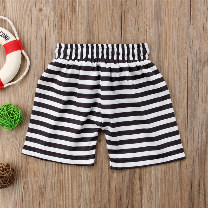 Nautical Striped Drawstring Swimming Shorts