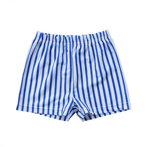 The Blue Summer Striped Swimming Trunks