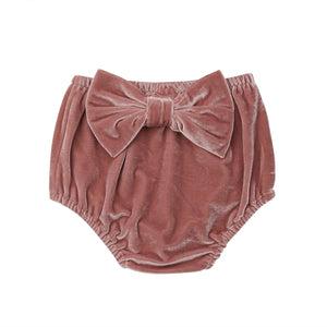 Velvety Bow Knot Bloomer Shorts