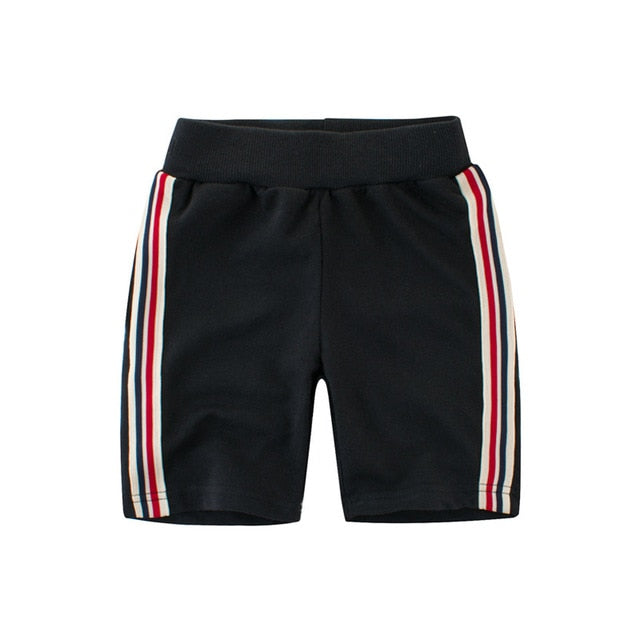 Casual Side Striped Jogger Shorts - Shorts - baby-petite