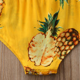 Tropical Sweet Pineapple Yellow Romper - Rompers - baby-petite
