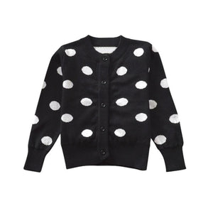 Polka Dot Button Down Knitted Cardigan