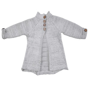 English Button Knitted Woolen Cardigan Coat