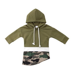 Forest Green Autumn Camouflage Pullover Sweater Hoodie