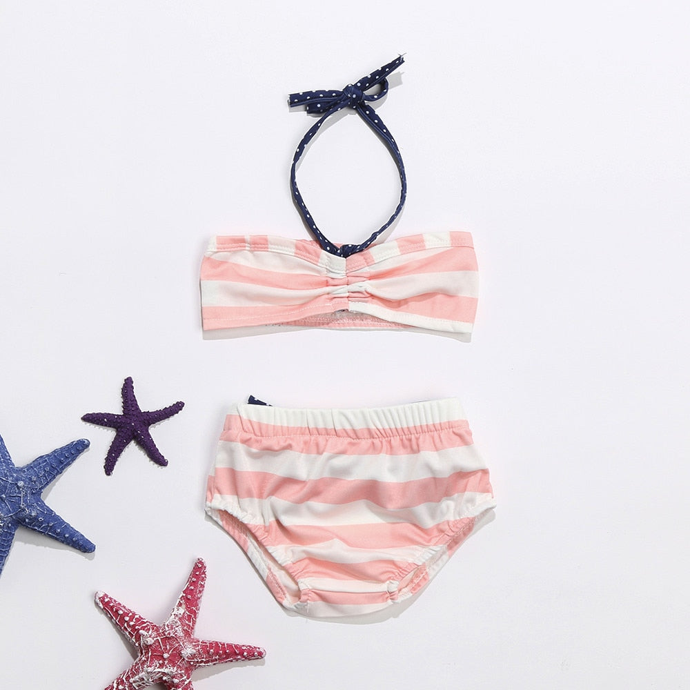 Sun Kissed Pink Striped Swimsuit - Swimsuits - baby-petite